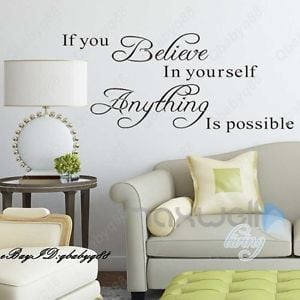 Anything-is-possible-Wall-Quotes-decals-Removable-stickers-decor-Vinyl ...