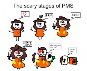 women menstrual cycle aunt flo time of the month comic stages