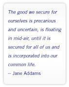Jane Addams quote
