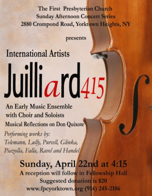 Concert April With Juilliard Early Music Ensemble