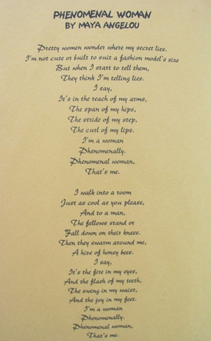 isn't the poem in it's entirety, but the first time I heard this poem ...