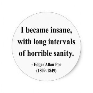 Edgar Allan Poe Quotes Insanity