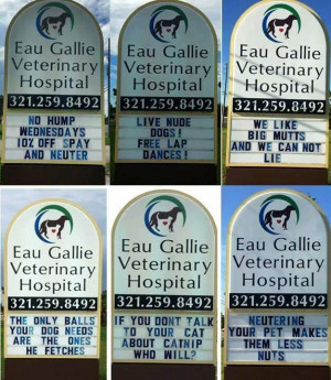 These Inappropriate Vet Signs Are Hilarious