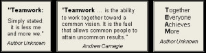 Define Teamwork - Read what It Means to Different People