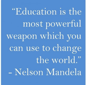 ... Quotes | thought provoking quotes / Nelson Mandela's #education quote
