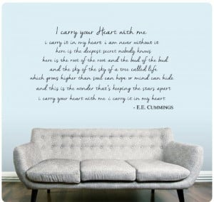 ... EE Cummings Decal Home Decor Poetry Quote ART Mural WallPressions