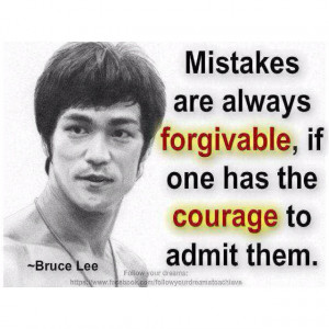 admit your mistakes.