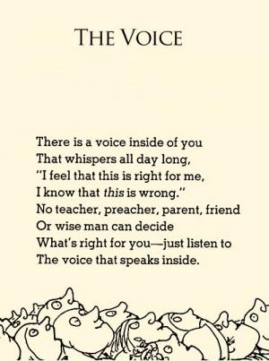 The Voice - Shel Silverstein.