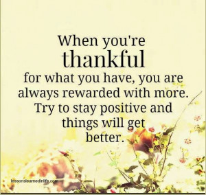 when you're THANKFUL :)