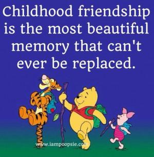 Childhood friendship quote via www.IamPoopsie.com