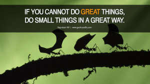 IF YOU CANNOT DO GREAT THINGS, DO SMALL THINGS IN A GREAT WAY ...