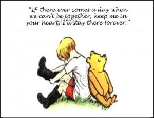 Winne the Pooh and Christopher Robin Quote 4x6 Art Print