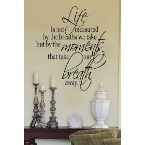 Wall art Life is not measured... home decor vinyl letters stickers ...