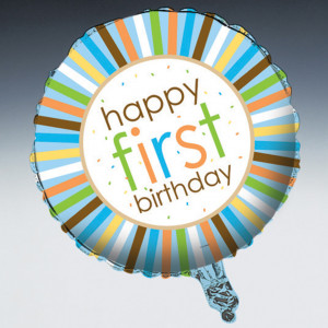Boy Safari 1st Birthday Foil Balloon