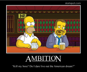 Homer Simpson Motivational Poster Ambition