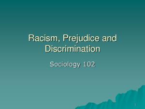 Racism Prejudice and Discrimination by MikeJenny