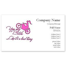 Biker bitch, like it's a bad thing. Business Cards for