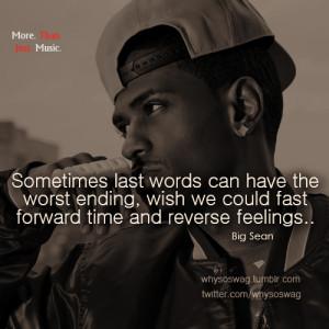 big sean quote | Tumblr
