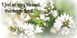 Feeling blessed #1