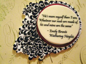 Literature Poetry Quote Brooch Wuthering Heights Emily Bronte Love
