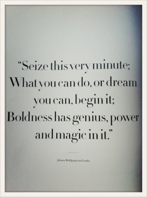 film still from Beginners and Goethe quote both via Spartan Journal