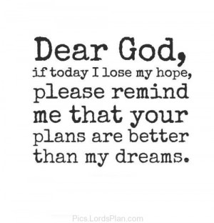 Dear God, If Today i lost my Hope, Inspiring spiritual picture to make ...