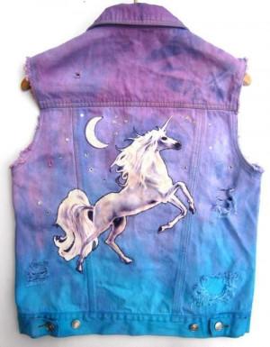 pastel goth | unicorn vest