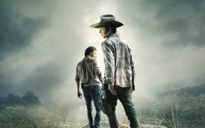 Papel de parede 'The Walking Dead: Carl e Rick'