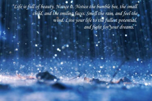 ... Quotes and Sayings (Snow, Rain, Sunshine, Quotations on / about rain
