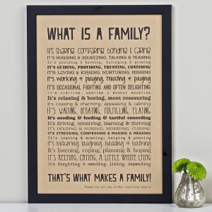 Family Poems 'what is a family?' poem print