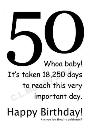 , 50th Birthday, Turning 50, Friend Birthday, Milestone Birthday ...