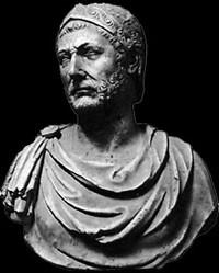 Roman sculpture of Hannibal.