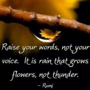 Rain and Thunder. Rumi.