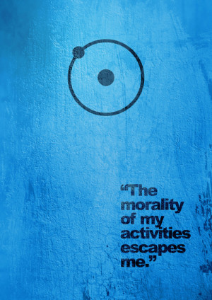 ... Doctor Manhattan against the cobalt texture of his skin. The quote