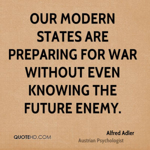 Alfred Adler War Quotes