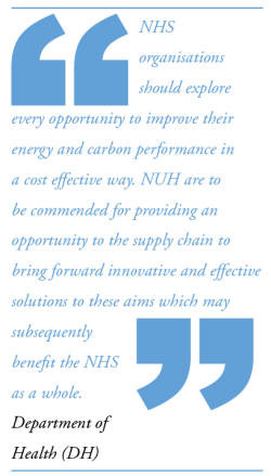 The Trusts commitment towards the carbon reduction strategy is ...