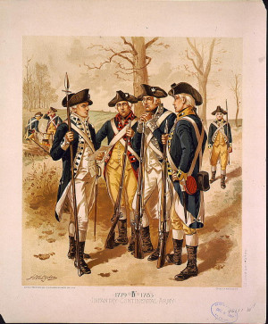 Infantry: Continental Army, 1779-1783, IV from the Library of Congress