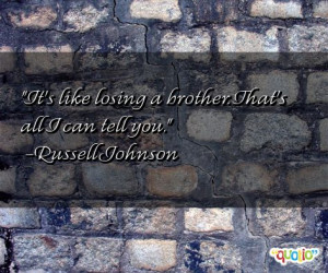 These are the quotes about losing brother Pictures