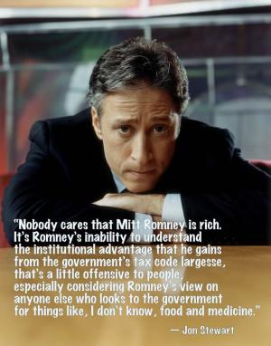 Jon Stewart on Mitt Romney