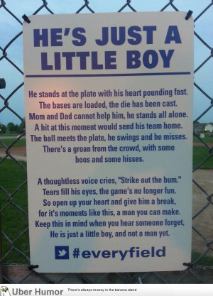 Sign found on a youth baseball field. I hope they leave it up.