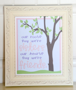 Art QUOTE - Sisters & Friends - Print - 8x10 - Inspirational quote ...