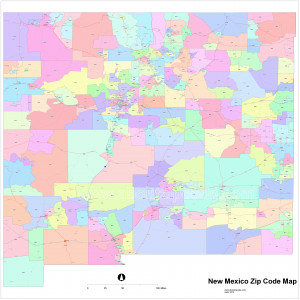 New Mexico Zip Code Map