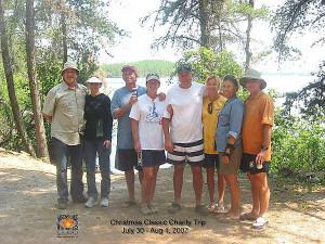 Dan Quayle and his group at Aikens Lake