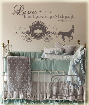 Cinderella Carriage vinyl wall art sticker with Live like there's no ...