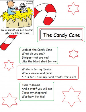 Christmas Candy Cane Meaning Print Out ( Click here )