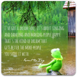 Beautiful words from Kermit the Frog