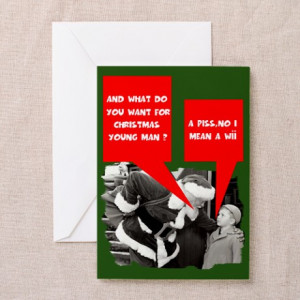 ... Greeting Cards > Funny sayings Santa Claus Greeting Cards (Pk of 10