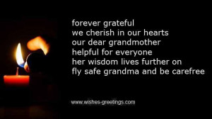 sympathy messages for loss of grandmother