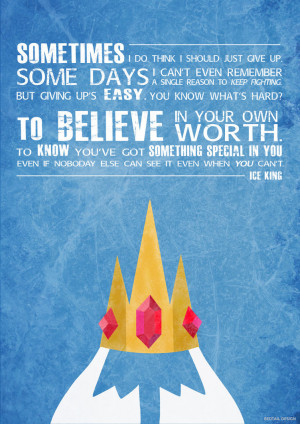 Ice King Quote Poster by JC-790514