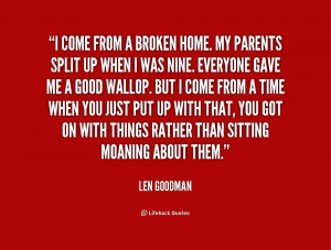 Quotes About Broken Home